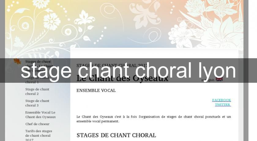 stage chant choral lyon