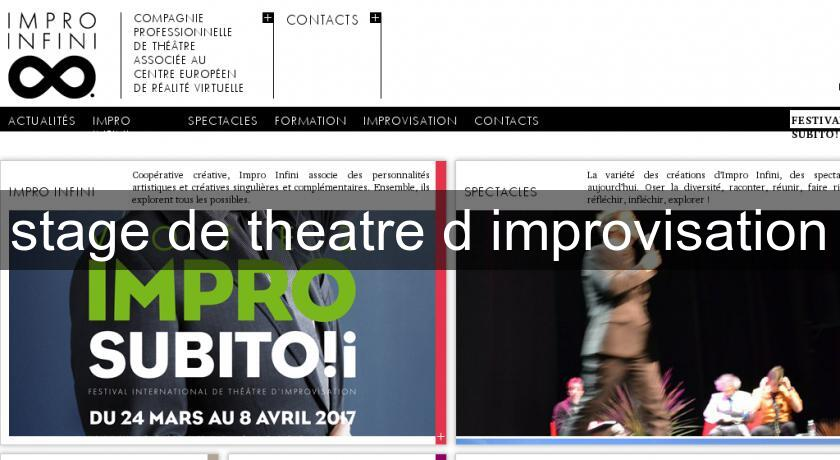 stage de theatre d'improvisation