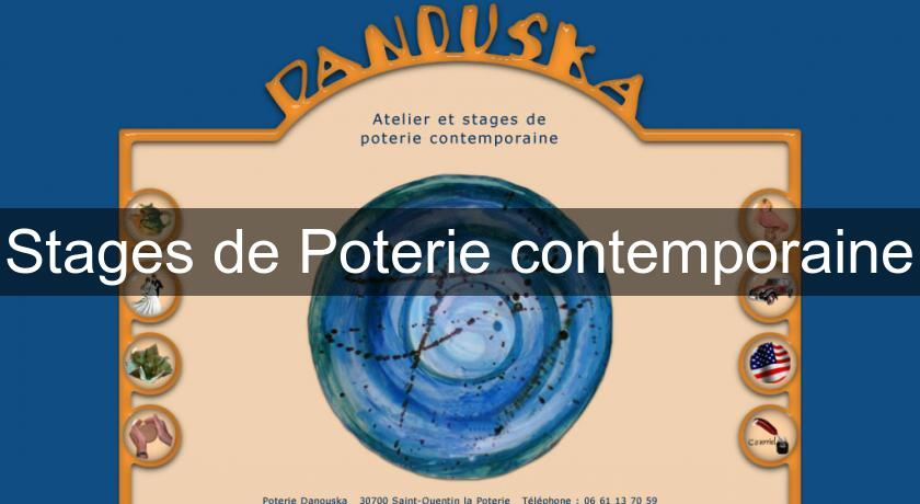 Stages de Poterie contemporaine