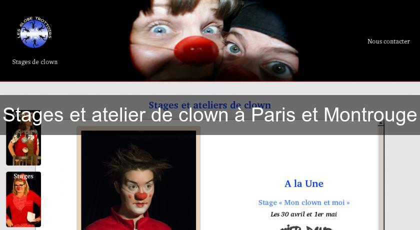 Stages et atelier de clown à Paris et Montrouge