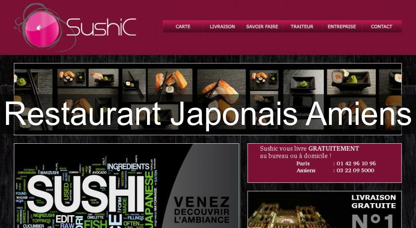 restaurant japonais amiens cuisine du monde. Black Bedroom Furniture Sets. Home Design Ideas