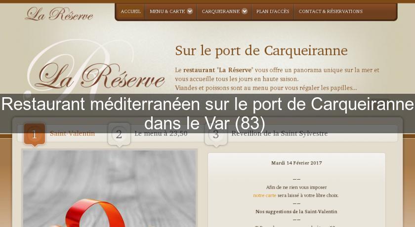 Restaurant m diterran en sur le port de carqueiranne dans le var 83 cuisine provencale - Restaurant carqueiranne port ...