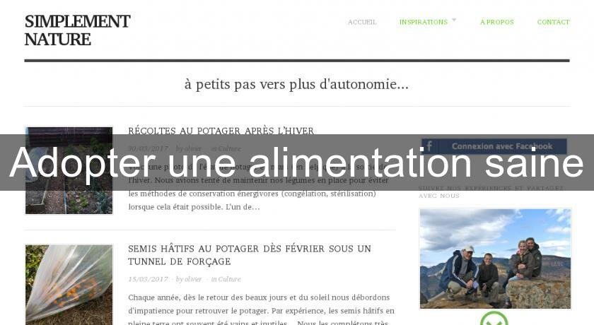 Adopter une alimentation saine