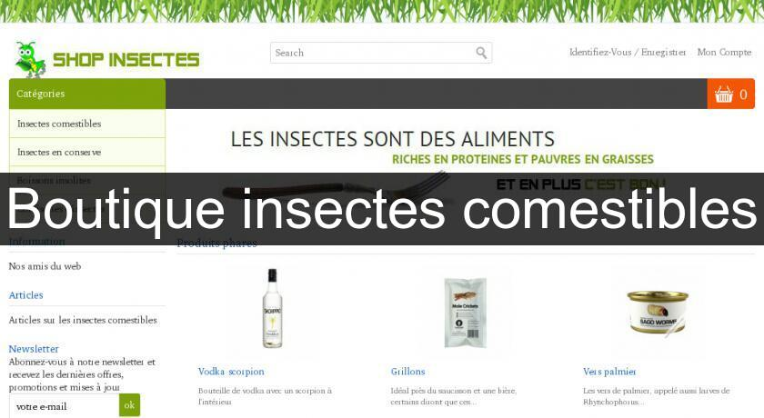 Boutique insectes comestibles