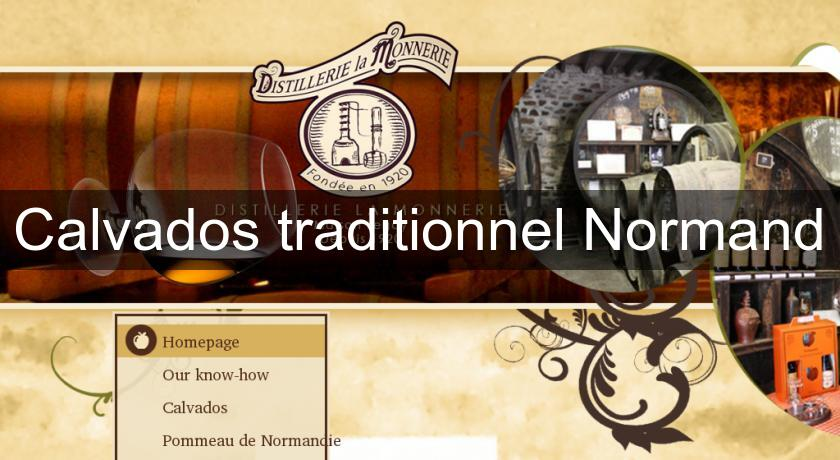 Calvados traditionnel Normand