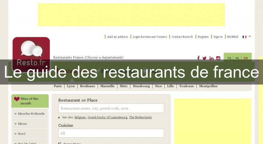 Le guide des restaurants de france