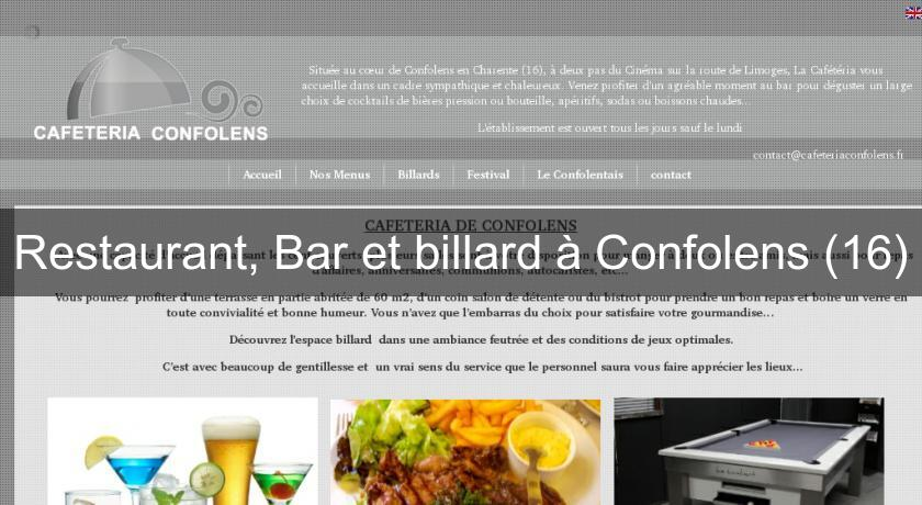 Restaurant, Bar et billard à Confolens (16)