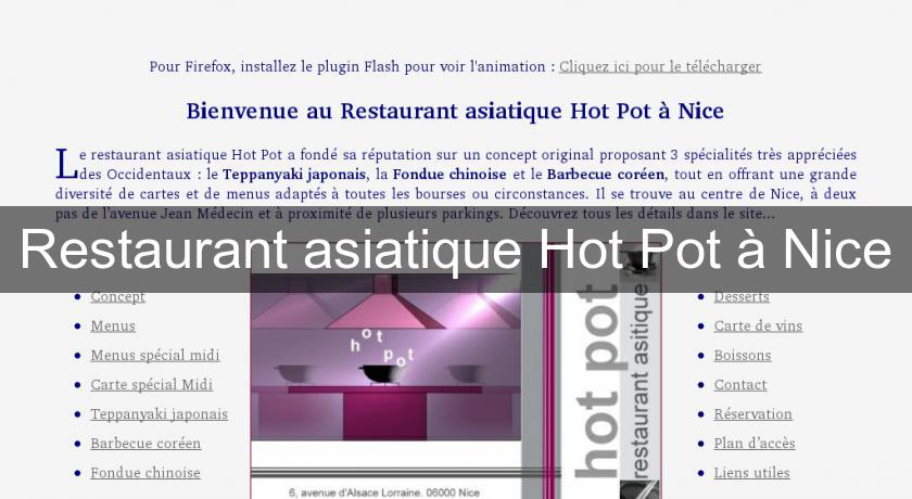 Restaurant asiatique Hot Pot à Nice