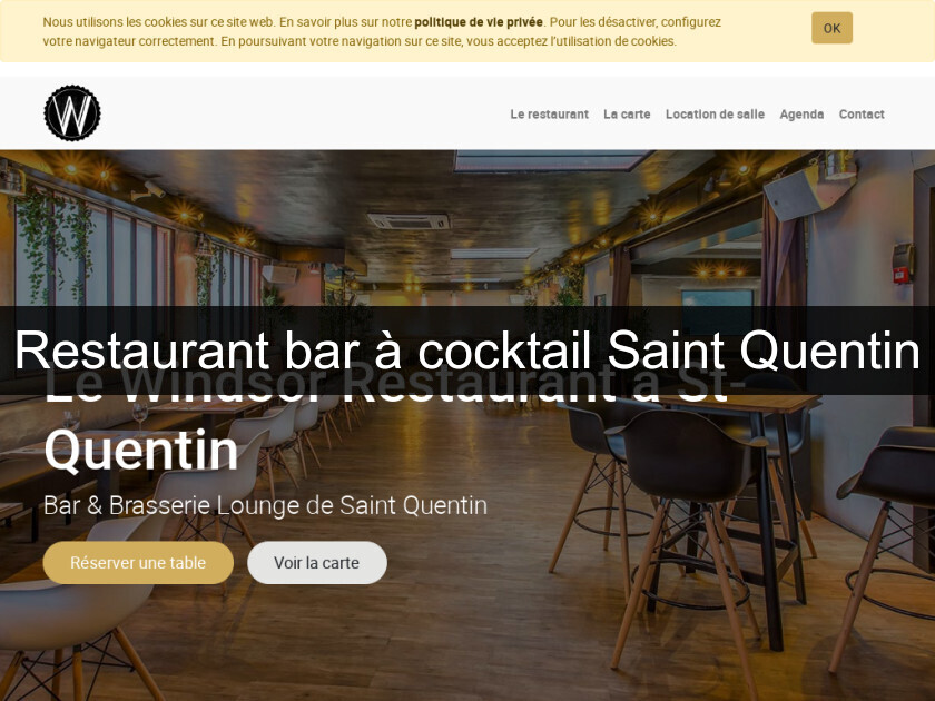 Restaurant bar à cocktail Saint Quentin