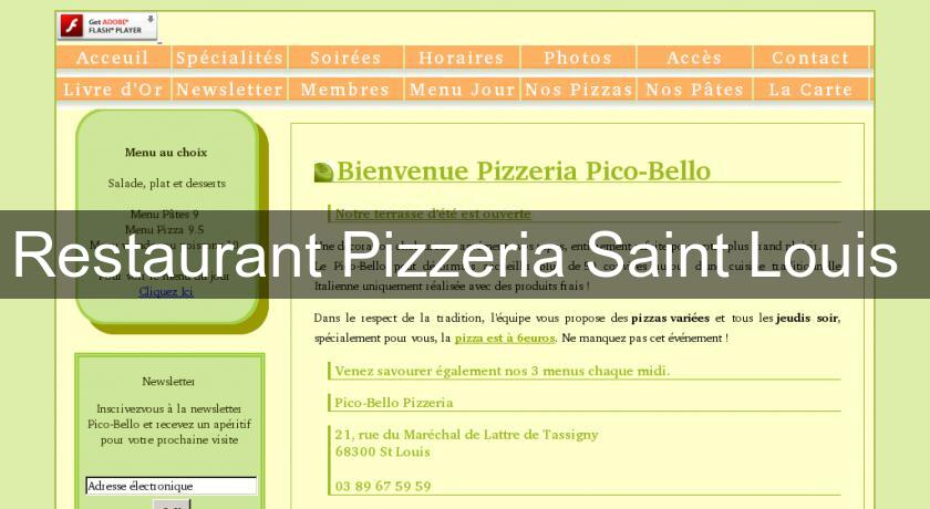Restaurant Pizzeria Saint Louis