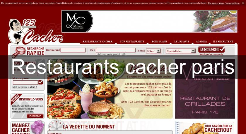Restaurants cacher paris