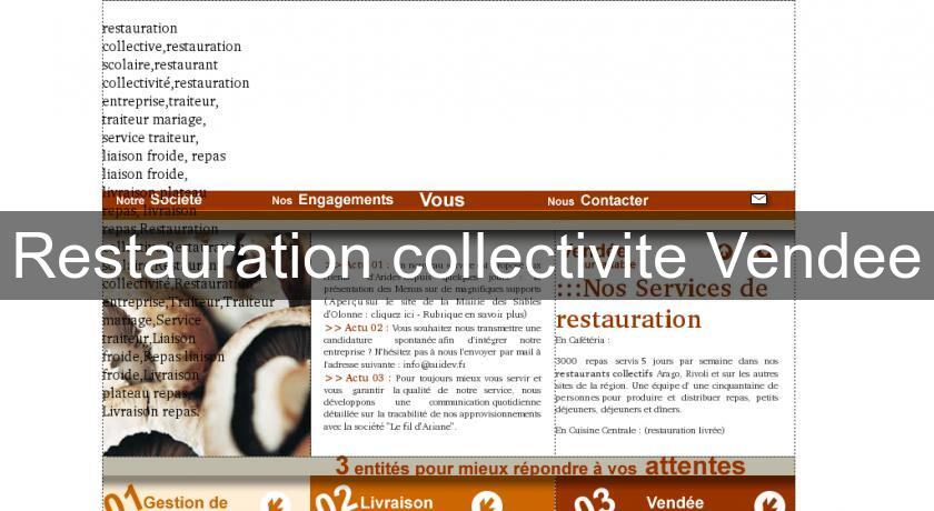Restauration collectivite Vendee