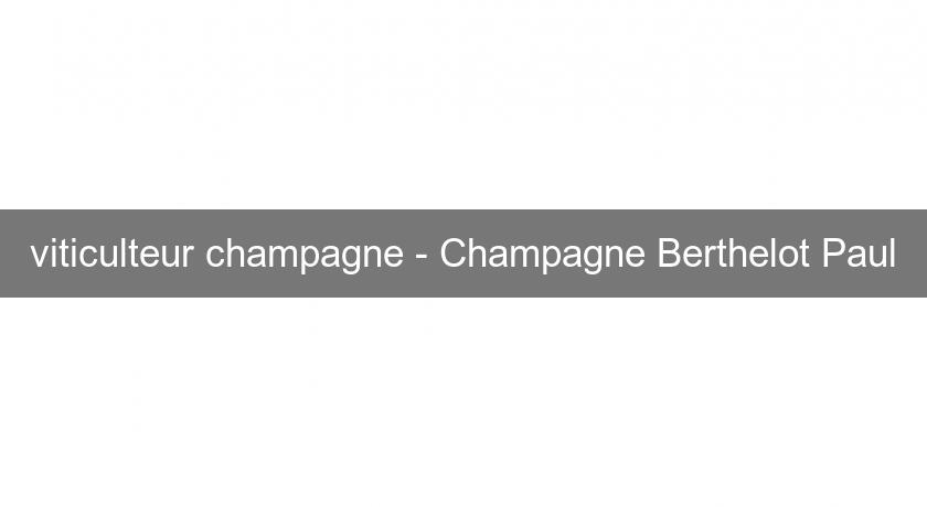 viticulteur champagne - Champagne Berthelot Paul