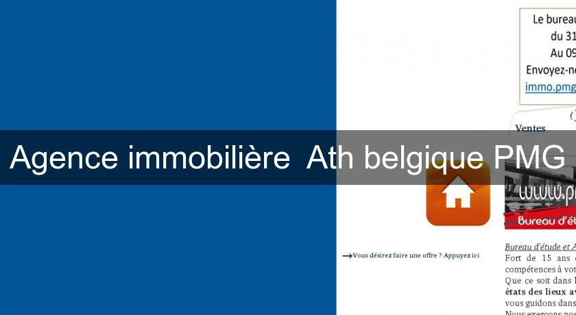 Agence immobili re ath belgique pmg annonces immobilieres for Annonce immobiliere agence