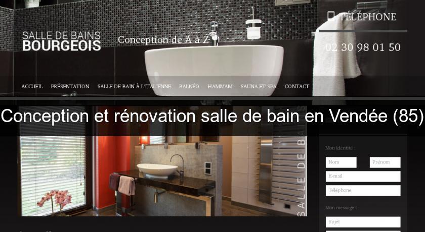conception et r novation salle de bain en vend e 85 travaux renovation. Black Bedroom Furniture Sets. Home Design Ideas