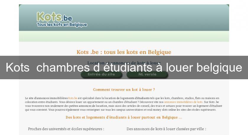 Kots chambres d 39 tudiants louer belgique annonces for Chambre a louer liege belgique