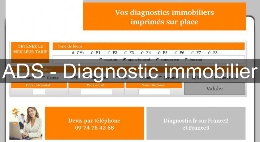 ADS - Diagnostic immobilier
