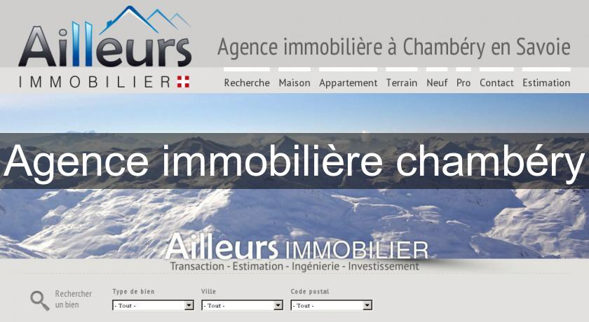Agence immobilière chambéry