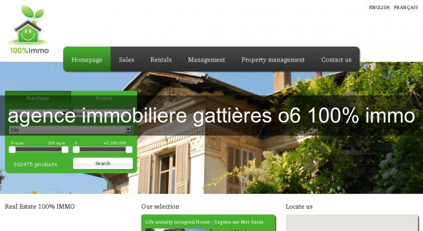 agence immobiliere gattières o6 100% immo