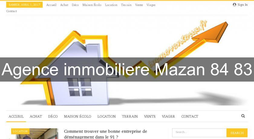 Agence immobiliere Mazan 84 83