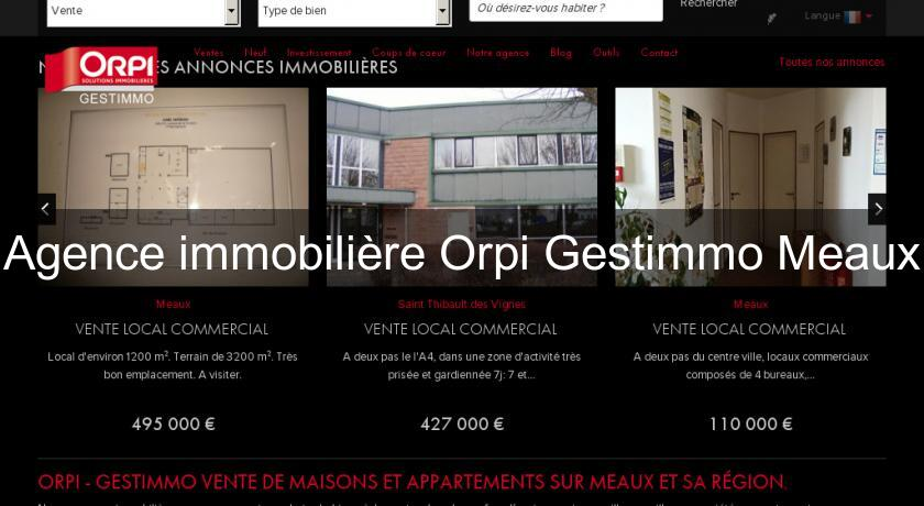 Agence immobilière Orpi Gestimmo Meaux