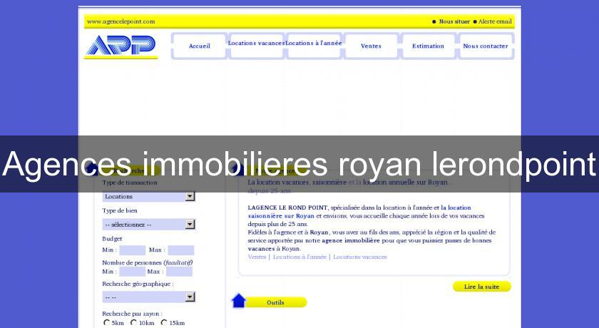 Agences immobilieres royan lerondpoint