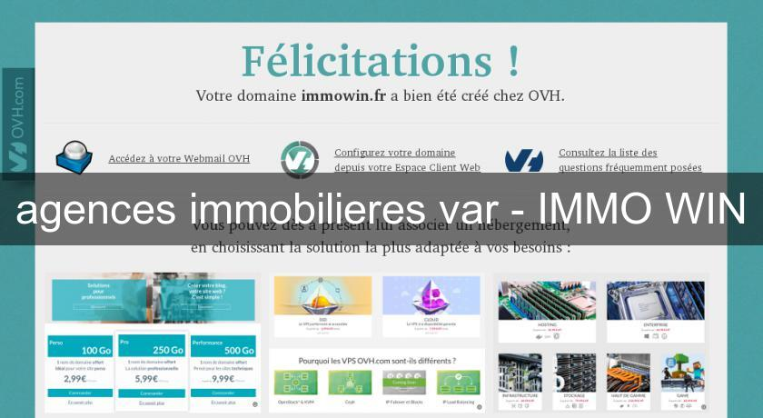 agences immobilieres var - IMMO WIN