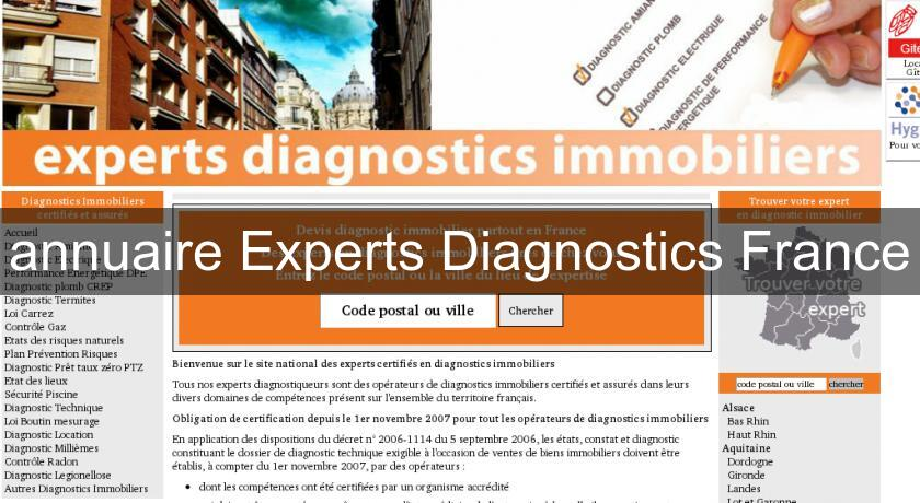 annuaire Experts Diagnostics France