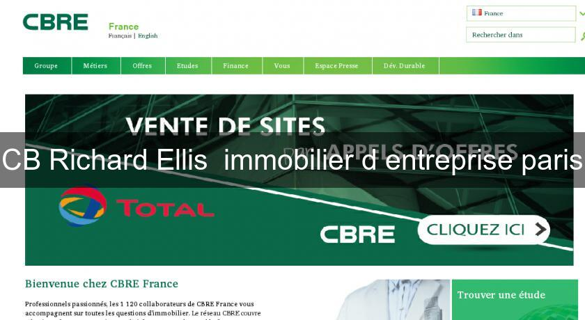 CB Richard Ellis  immobilier d'entreprise paris