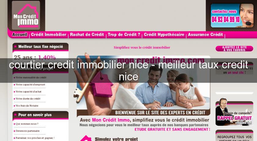 courtier credit immobilier nice - meilleur taux credit nice