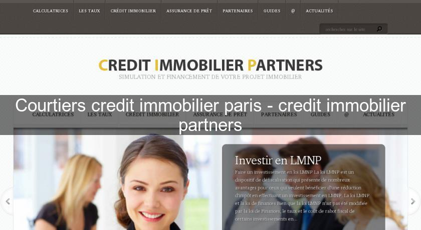 Courtiers credit immobilier paris - credit immobilier partners