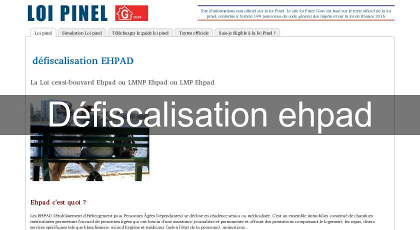 Défiscalisation ehpad