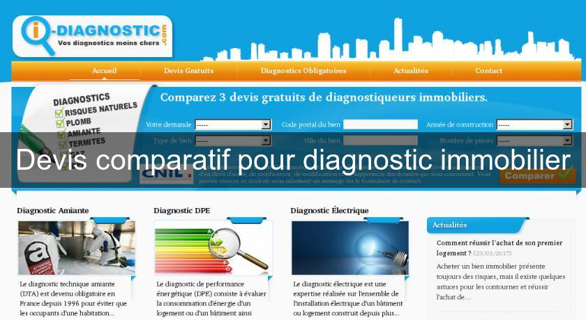 Devis comparatif pour diagnostic immobilier