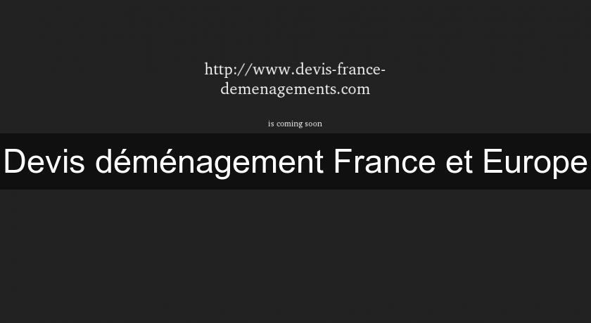 Devis déménagement France et Europe