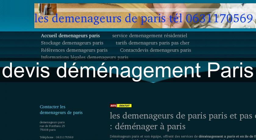 devis déménagement Paris