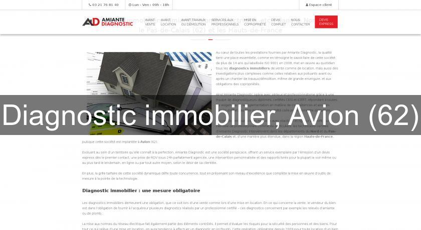 Diagnostic immobilier, Avion (62)