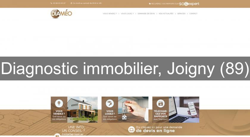 Diagnostic immobilier, Joigny (89)
