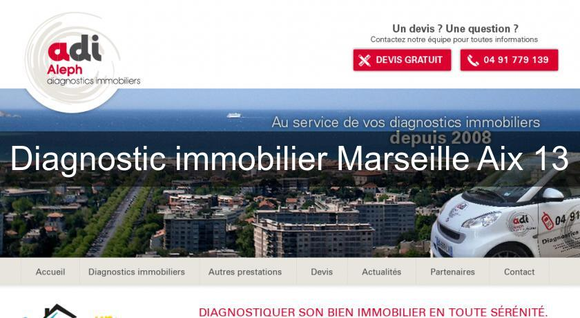 Diagnostic immobilier Marseille Aix 13