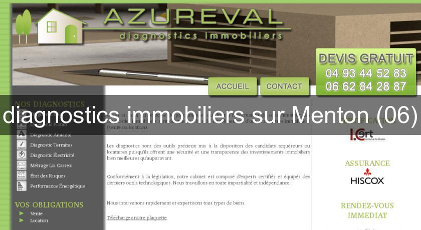 diagnostics immobiliers sur Menton (06)