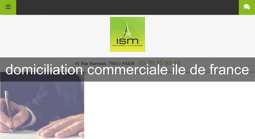 domiciliation commerciale ile de france