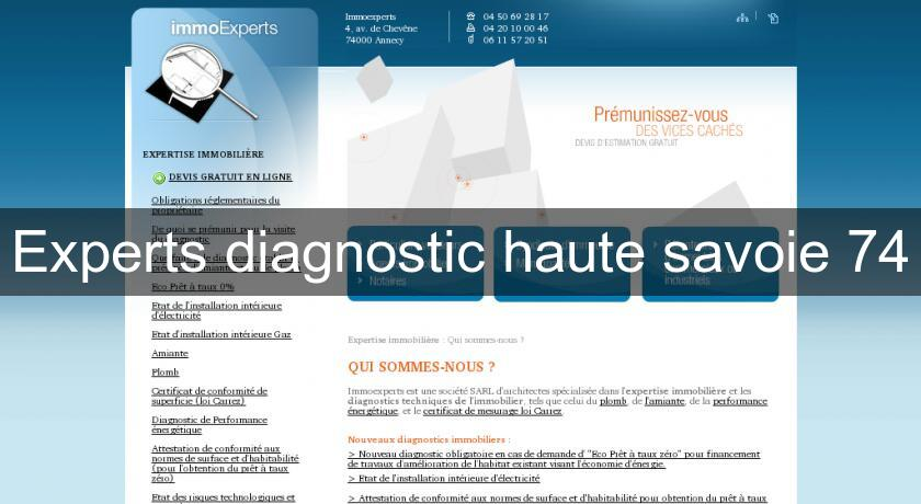 Experts diagnostic haute savoie 74