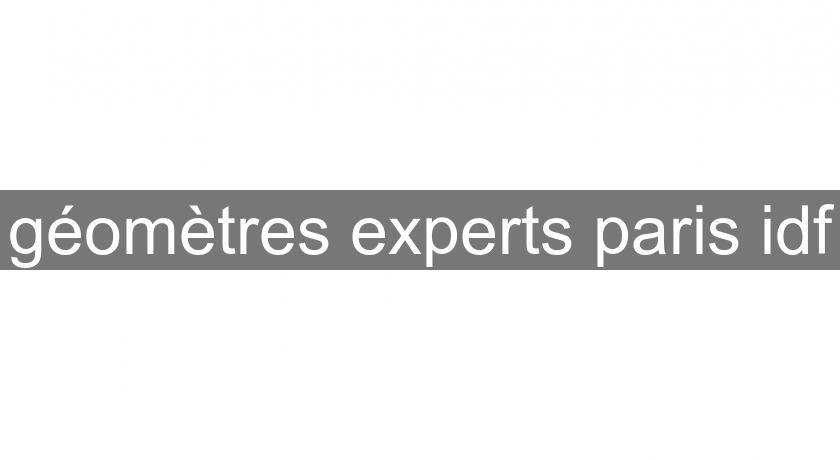 géomètres experts paris idf