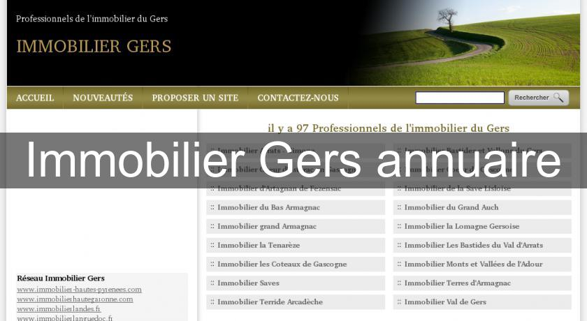 Immobilier Gers annuaire