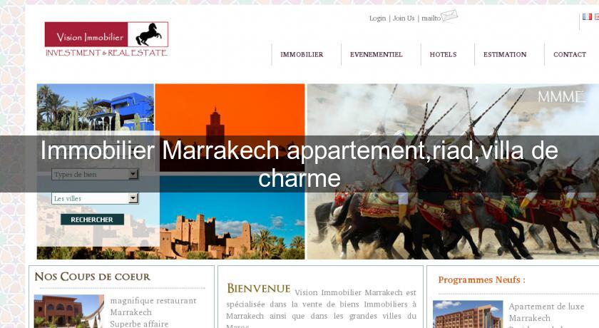 Immobilier Marrakech appartement,riad,villa de charme