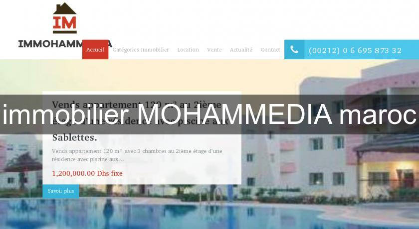 immobilier MOHAMMEDIA maroc