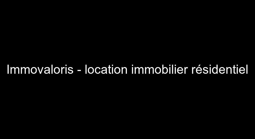 Immovaloris - location immobilier résidentiel