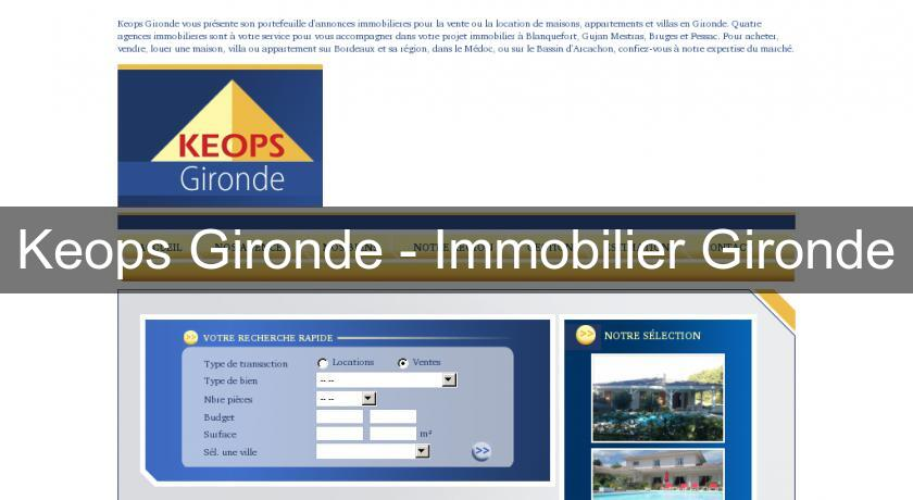 Keops Gironde - Immobilier Gironde