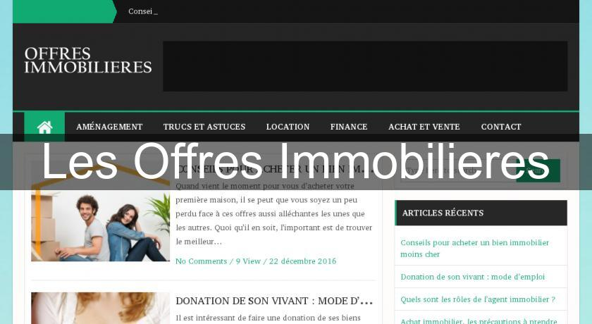 Les Offres Immobilieres