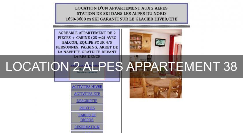 LOCATION 2 ALPES APPARTEMENT 38