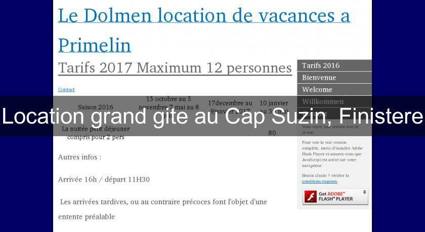 Location grand gite au Cap Suzin, Finistere